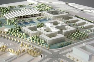 Modellbau Roemer Modellfoto ThyssenKrupp Quartier