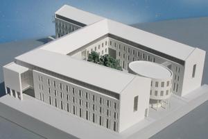 Modellbau Roemer Modellfoto Rathaus Gladbeck