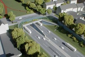 Modellbau Roemer Modellfoto Autobahntunnel A2
