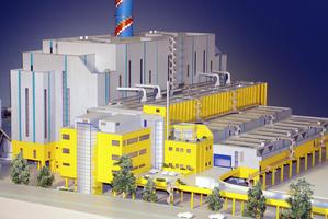 Modellbau Roemer Modellfoto Abfallverbrennungsanlage AVA