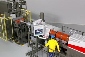 Modellbau Roemer Modellfoto Extruder und Folienmaschine