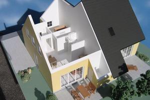 Modellbau Roemer Modellfoto Doppelhaus
