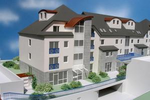 Modellbau Roemer Modellfoto Eigentumswohnungen mit Einsicht