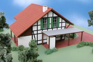 Modellbau Roemer Modellfoto Ferienhaus