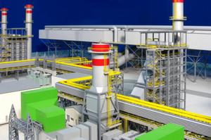 Modellbau Roemer, Modellfoto Gaskraftwerk