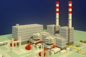 Modellbau Roemer Modellfoto Gaskraftwerk Irsching